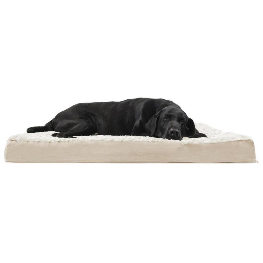 Furhaven Furhaven Jumbo Ultra Plush Deluxe Orthopedic Pet Bed Cream 34108012 Orthopedic Pet Bed Dog Pet Beds Pet Watching