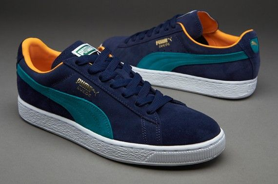 Clearance Puma Suede Classic+ PeacoatBlue Grass,HOT SALE