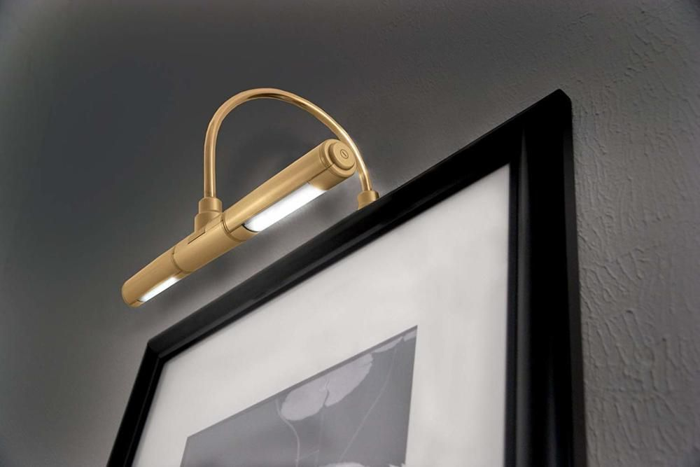 Lighting For Artwork Showroom Gallery Picture Cordless Light Bright Led Gold Ritelite Picture Frame Light Picture Light Led Picture Light