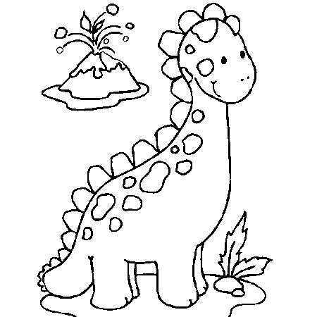 coloriage dinosaure colorier dessin imprimer - Dinosaure Colorier