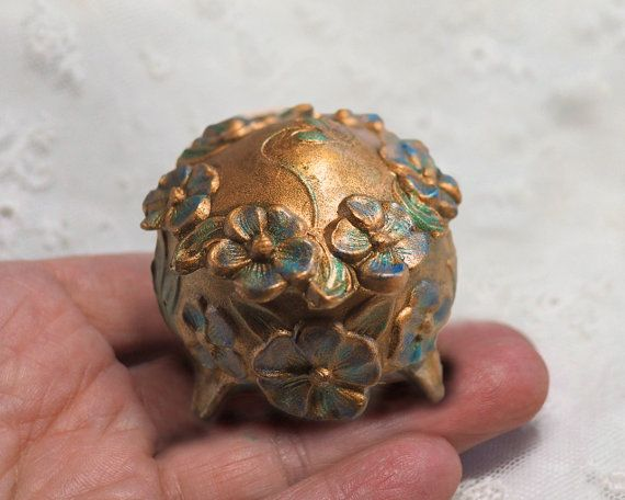 Antique Ring Box - Wedding Ring Box - Vintage Art Nouveau Ormolu Jewelry Casket - Repousse & Antique Ring Box - Wedding Ring Box - Vintage Art Nouveau Ormolu ... Aboutintivar.Com