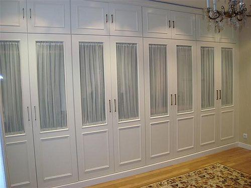 Puertas solo visillo y rectangulos a a armario pinterest visillos armario y armario empotrado Visillos para puertas