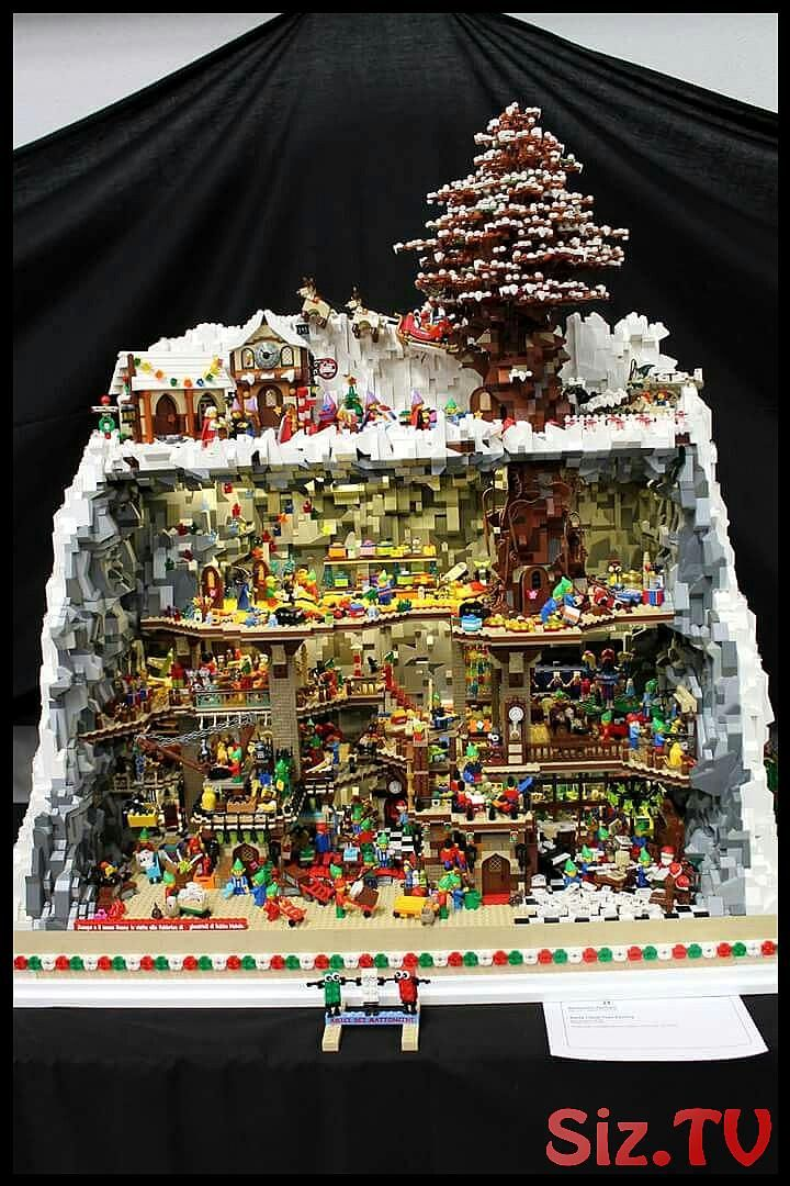 Christmas Lego 2020 Amazing Lego Christmas scene in 2020 (With images) | Cool lego