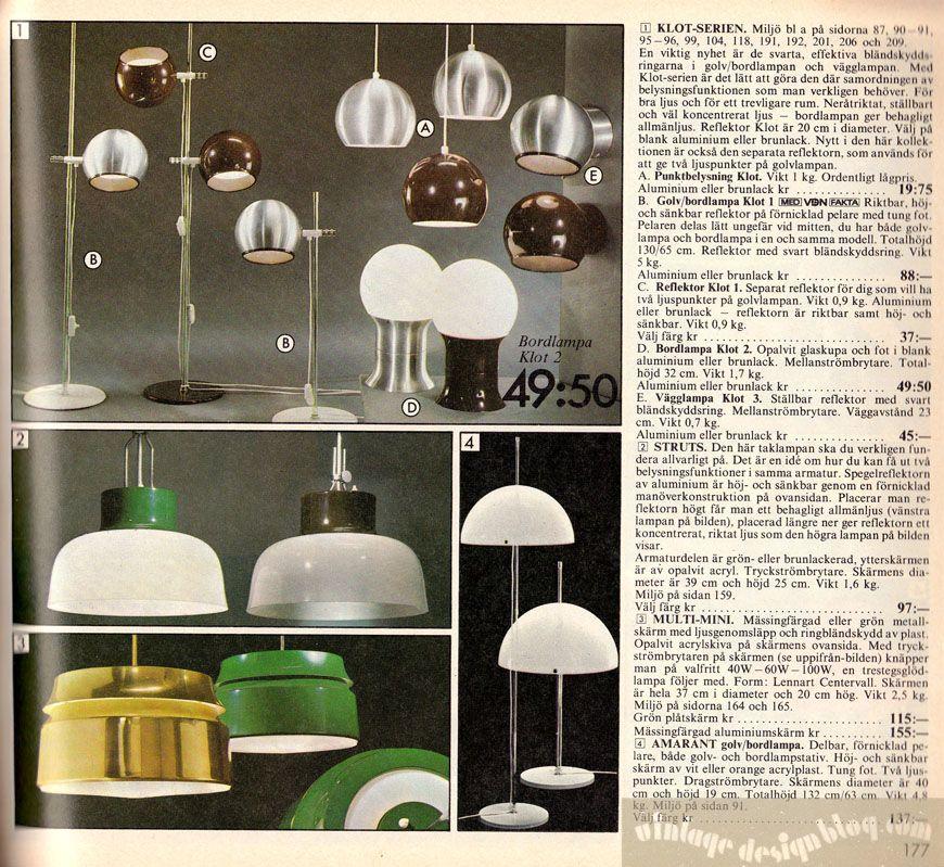 ikea lighting catalogue. Vintage Ikea Lamps Lighting Catalogue