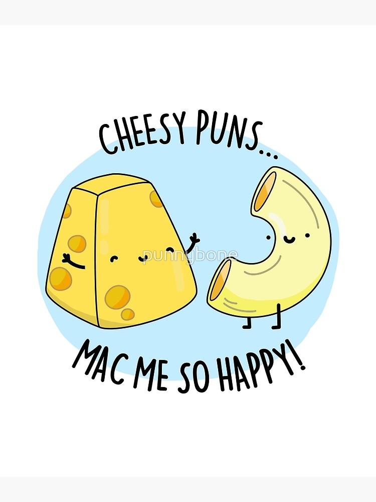 'Mac Me Happy Food Pun' Greeting Card by punnybone