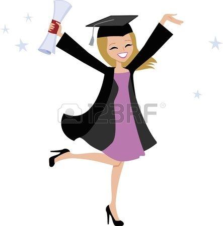ارى نفسي ان شاء الله خريجة من كلية تكنولجيا المعلومات بعد ثلاث سنوات Girl Cartoon Graduation Girl Graduation Clip Art