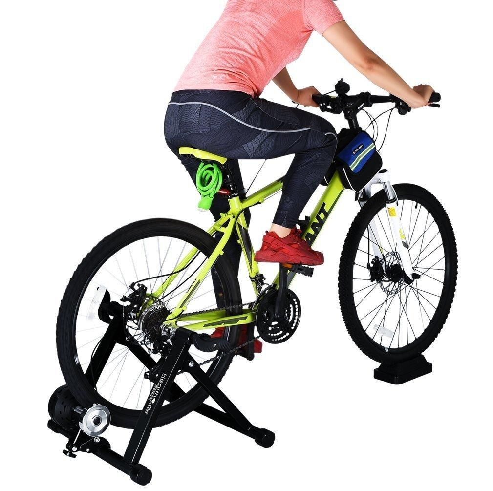 8 Levels Resistance Bike Trainer Black Indoor
