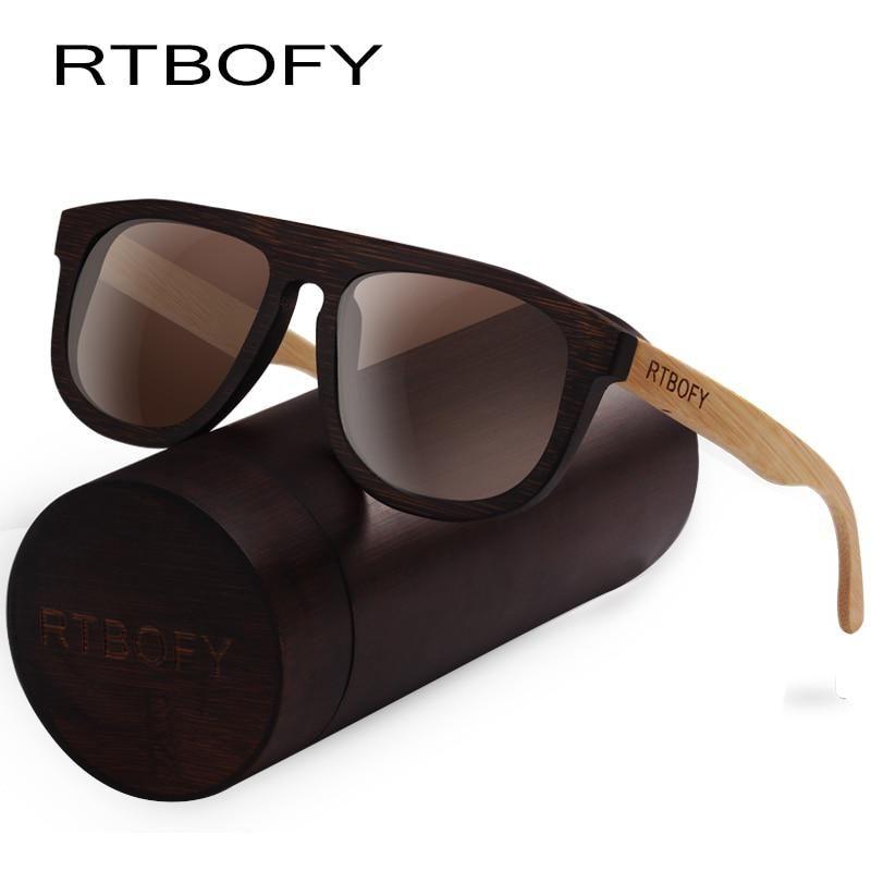 f3b09f91550 RTBOFY Wood Sunglasses for Men   Women Bamboo Frame Eyeglasse Polarized Lenses  Glasses Vintage Design Shades UV400 Protection. Yesterday s price  US   43.93 ...