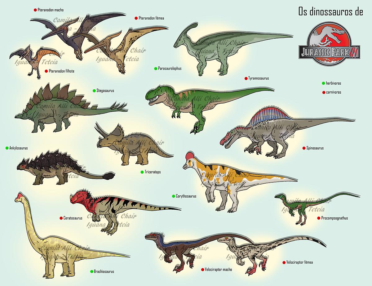 Jurassic park iii dinosaurs jurassic parkworldfallen - Liste des dinosaures carnivores ...