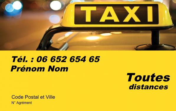 carte de visite taxi Carte de visite taxi, créez gratuitement à partir de modèle en