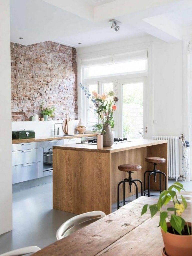95 Admirable Artistic Vintage Brick Wall Design For Home Interior Home Decor Kitchen Kitchen Design Kitchen Interior