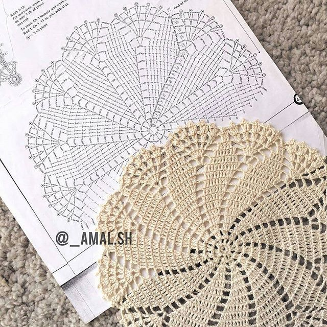 Centrinho lindo por @_amal.sh #doillie #doily #toalhinha #crochet ...