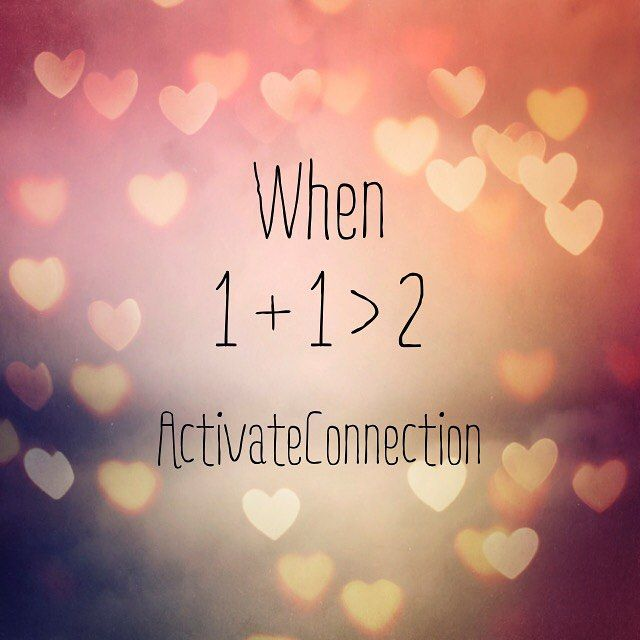 Love is wanting to be better for yourself and your special someone Love is supporting the growth for yourself as well as your partner's Imagine the kind of amazing outcome when 1+1>2