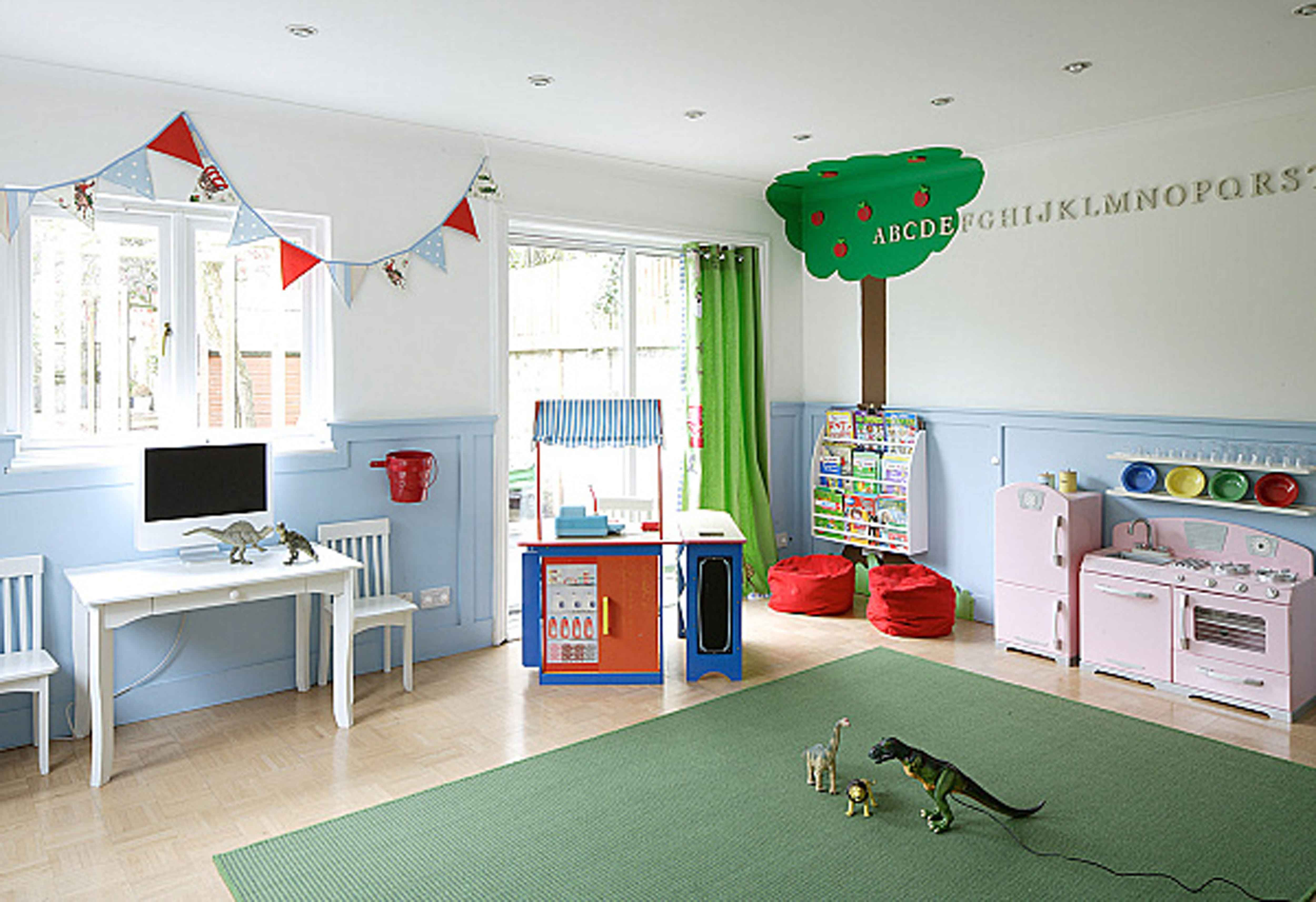 decorating a large wall in childs room with banner google search