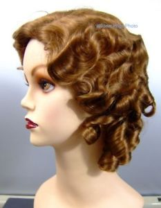 1930 s FINGERWAVE FLUFF Wig - Theatre Strawberry Bld 27  a69a3b64bd6f