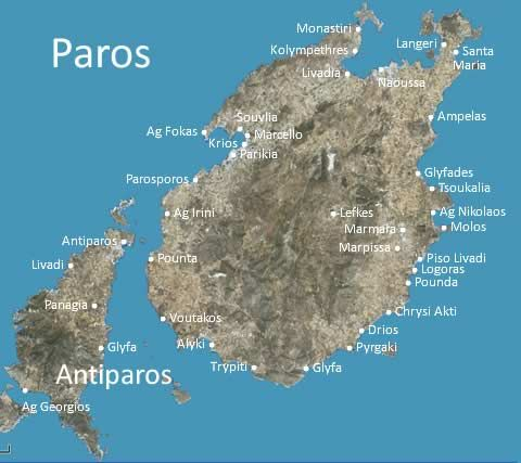 Paros map in 2019 | Paros greece, Greece travel, Paros beaches