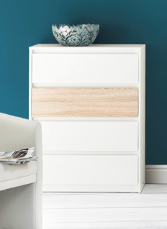 Buy Tall White Chest Of Drawerbedroom Storagedresser Furniture