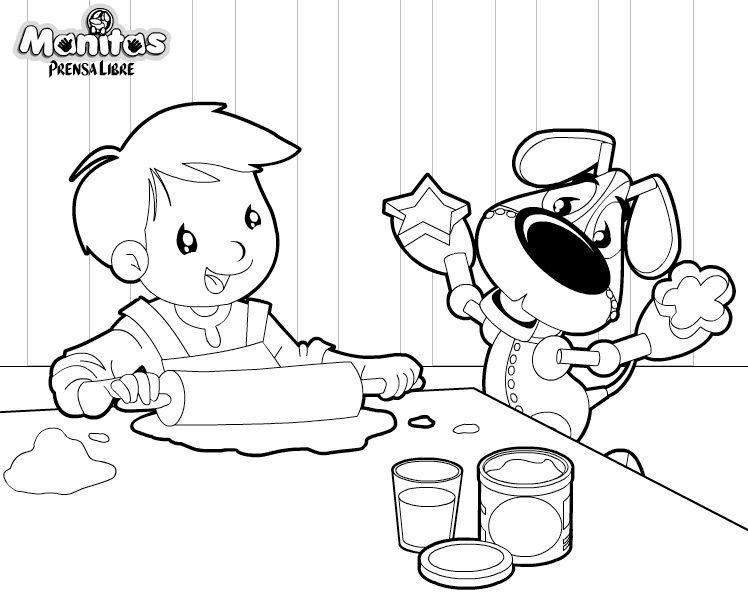 dibujos de niños cocineros para colorear - Buscar con Google ...