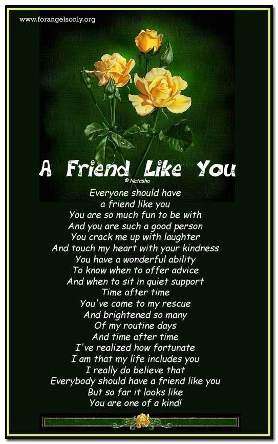 21 best friend poems