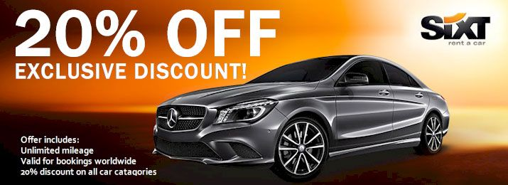 Sixt Rental Car Discount Coupons Travel 2016 Car Rental Coupons