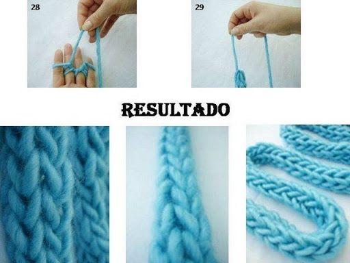 Hand knitting