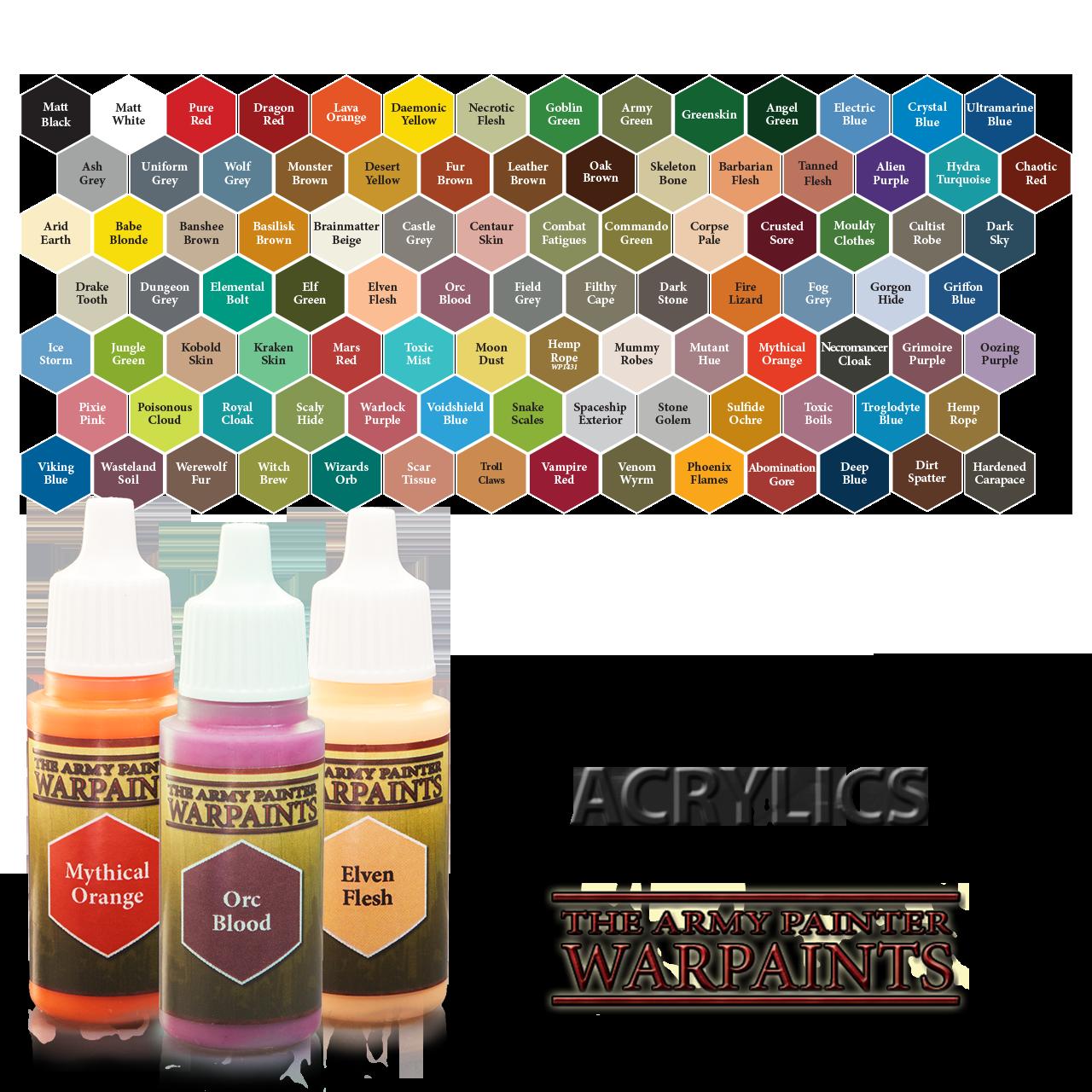 The Army Painter Shop Bottle Painting Color Palette Challenge Mini Paintings