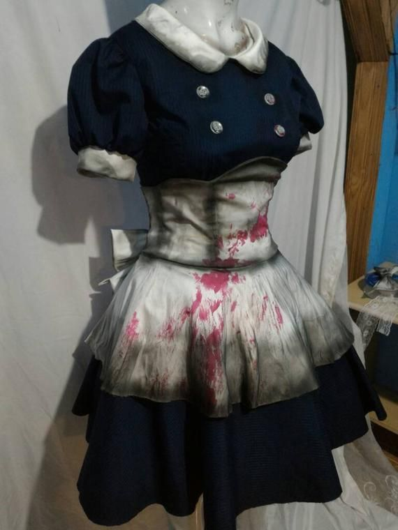 Cosplay Little sister bioshock game costume dress +big daddy doll