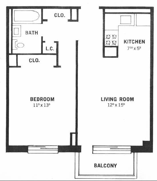 1 bedroom floor plan   design ideas 2017-2018   Pinterest   Bedrooms ...