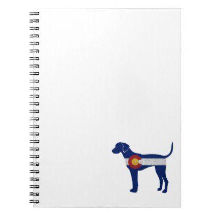 Plott Hound Dog Colorado Native Flag Notebook | Zazzle.com