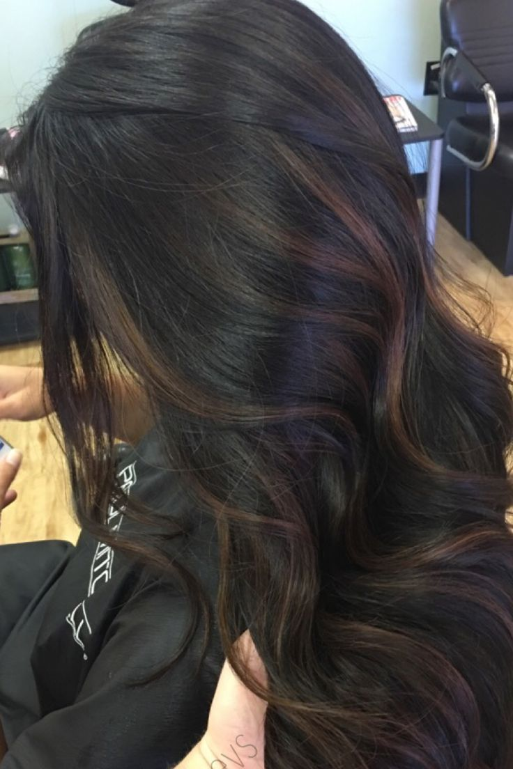 A Step By Step Guide Explaining How To Successfully Create Dark Brown Hair With Highli Black Hair Balayage Black Hair With Highlights Hair Color For Black Hair