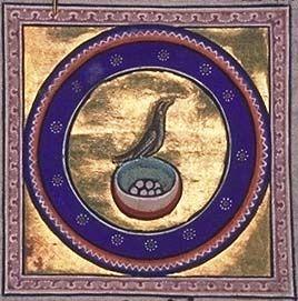 Aberdeen bestiary: nightingale Verlichte Letters, Aberdeen, Natuurhistorie, Ei, Gedichten, Vreemde Dieren, Initiaal, Kleine Tekeningen