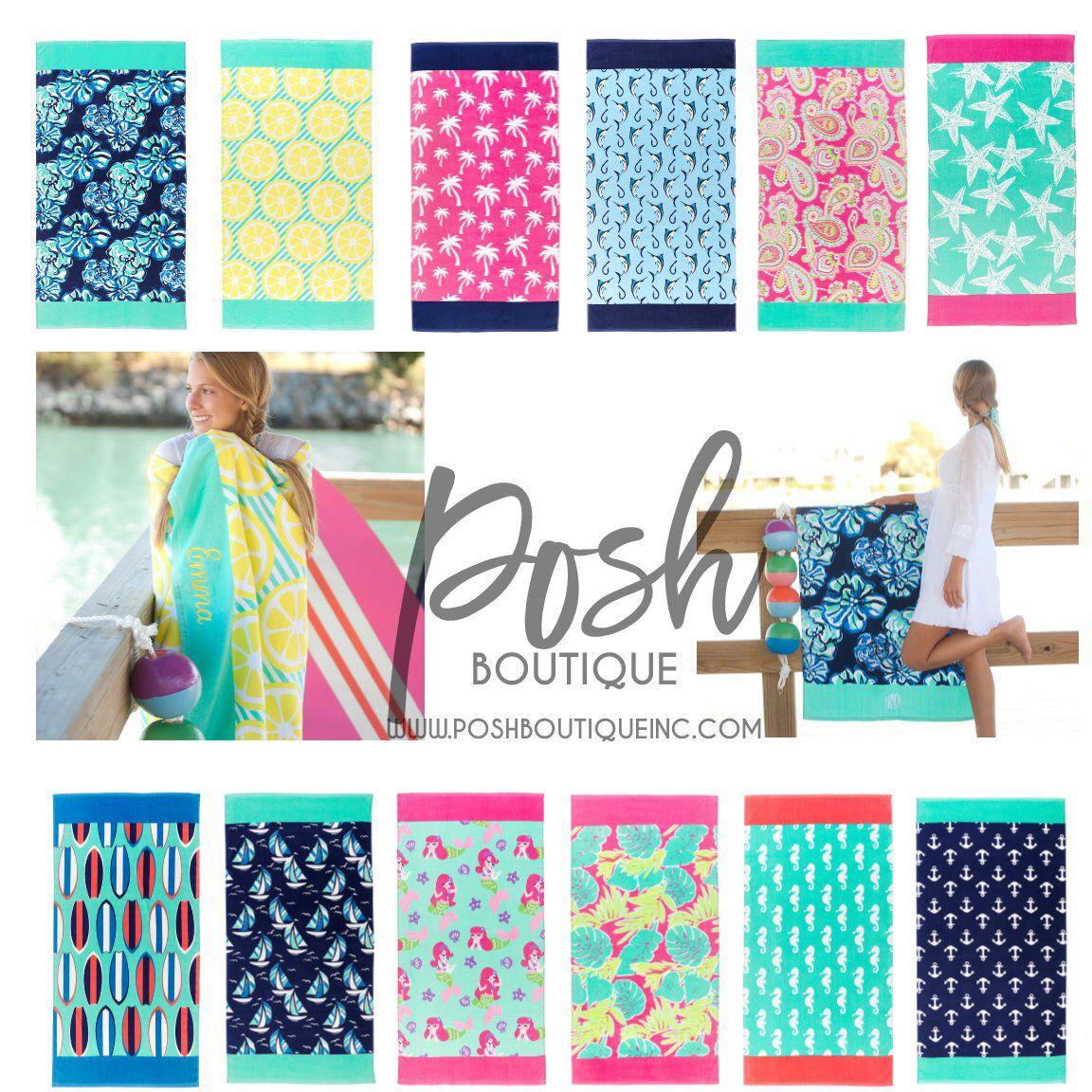 Monogrammed Beach Towel Personalized Beach Towels Monogrammed