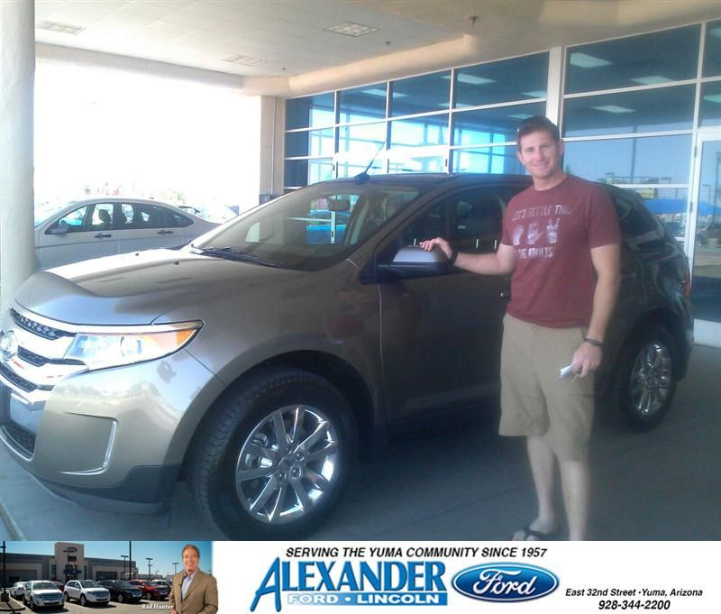 Congratulations To Aaron Duemmel On Your Ford Edge Purchase From