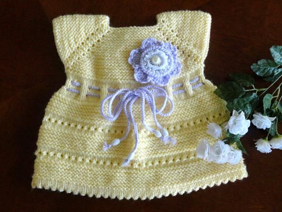 Baby Dress Crochet Baby Dress Flower Baby Girl Clothes Baby | Etsy