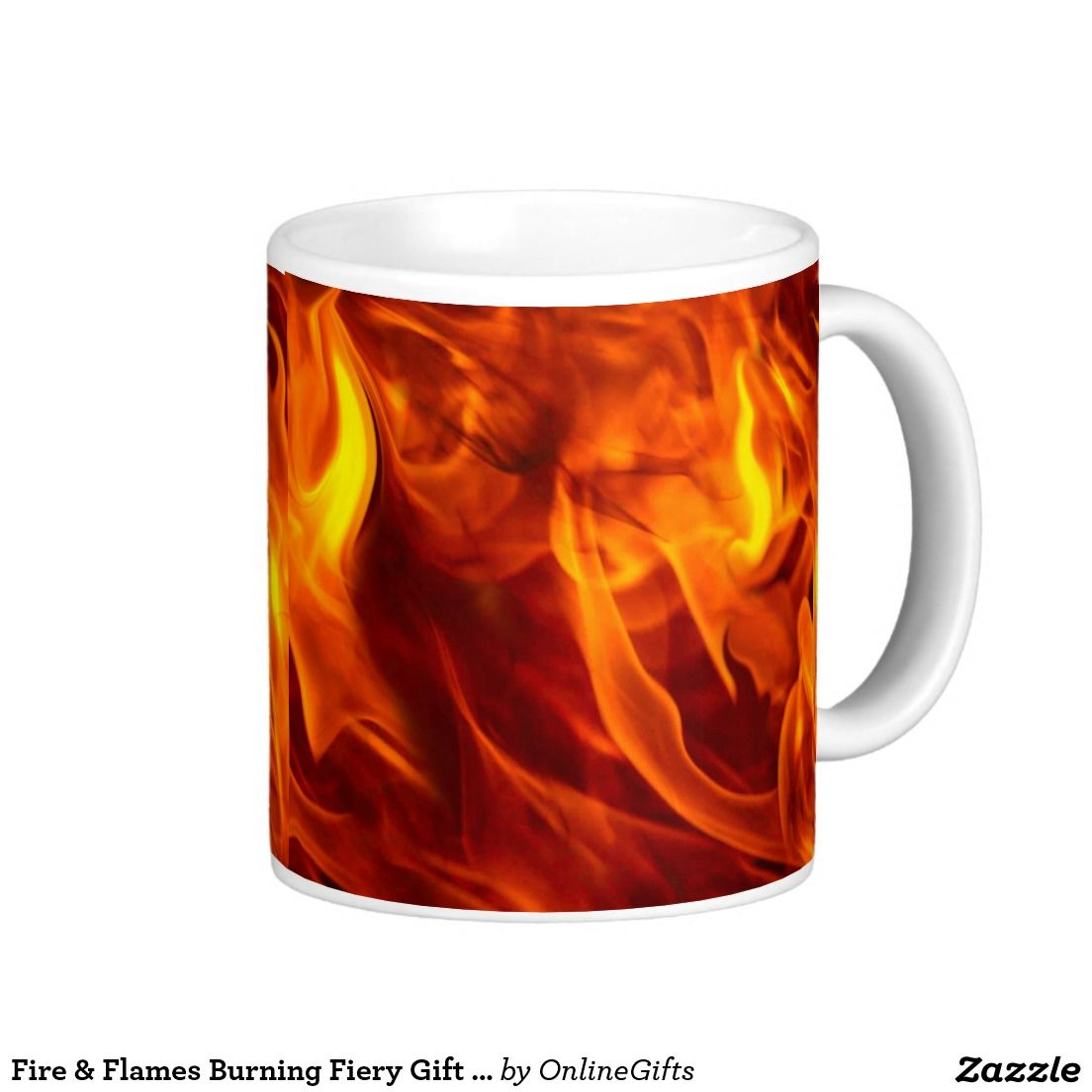 Fire & Flames Burning Fiery Gift Item Classic White Coffee Mug