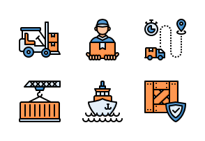 Delivery And Logistic Icons By Aficons Studio Icon Truck Icon Icon Design