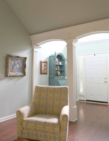 Painting Ceramic Tile And Textured Ceilings Allison S Living Room Details The Decorologist Ceiling Texture Painting Ceramic Tiles Colored Ceiling