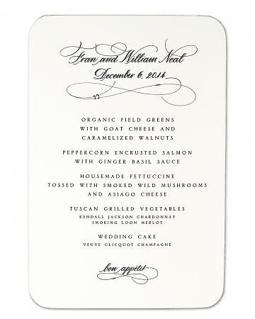 Menu Card--cute idea for a formal dinner party Party Ideas \ Decor - best of formal business invitation card