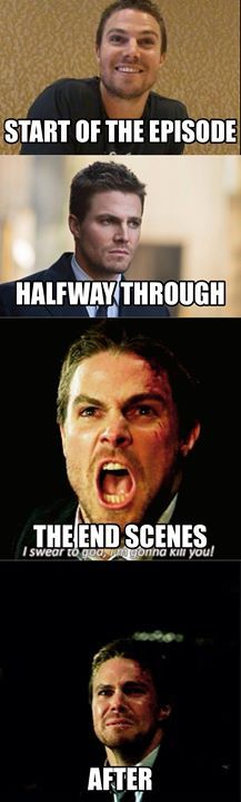 THIS IS ACCURATE. Watching the mid-season finale of #Arrow - The Climb.