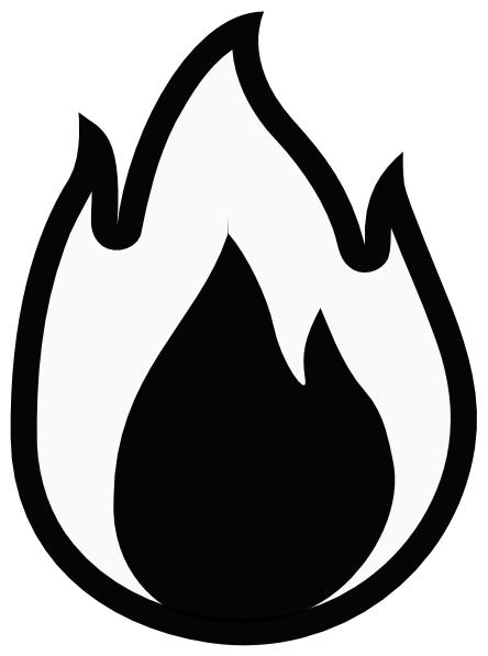 black and white contrast art for kids flame 8 clip art vector rh pinterest com clipart flamenco clipart flames