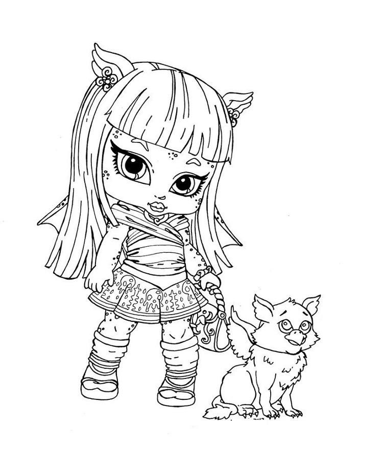 Monster High Coloring Pages Baby And Pet Cute Coloring Pages, Monster High  Characters, Coloring Pages