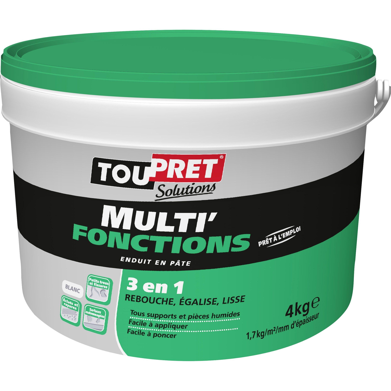 Toile À Enduire Plafond enduit multifonction toupret multi fonctions 4 kg en pâte