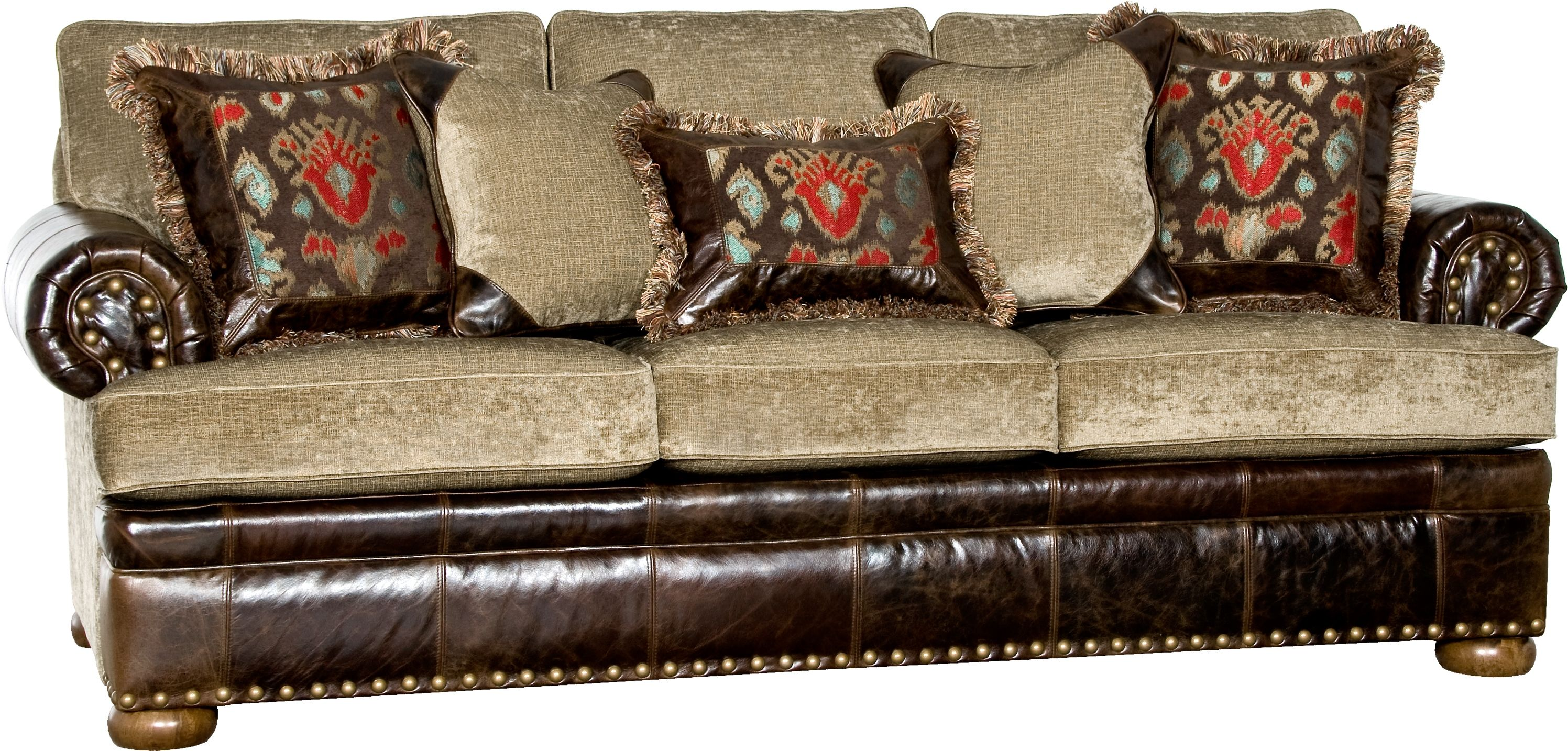 Leather fabric combo sofa home decor ideas pinterest for Leather sofa and loveseat combo