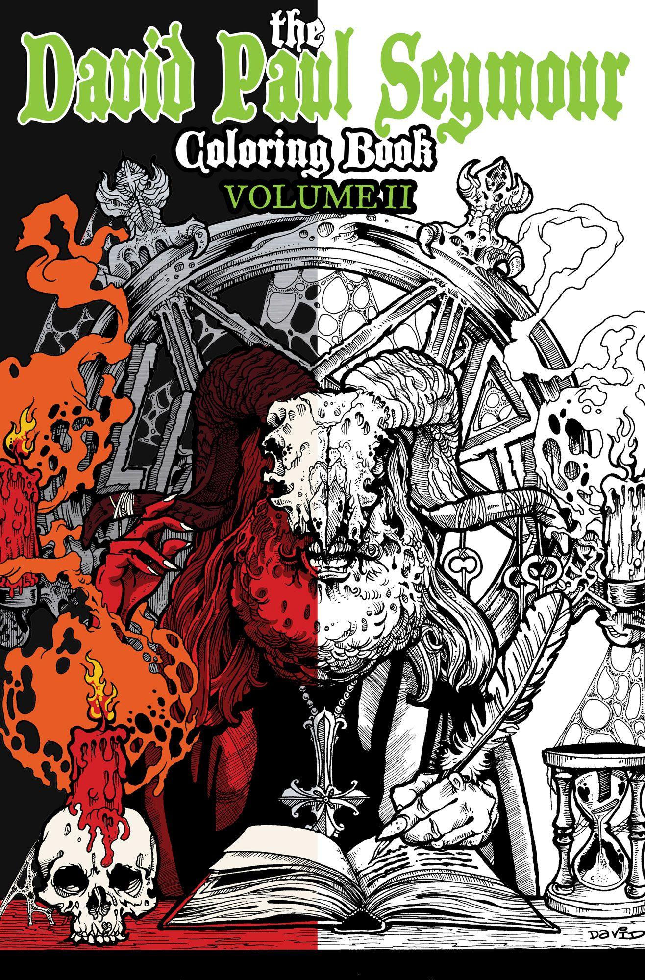 David Paul Seymour Heavy Metal Adult Coloring Book VOLUME II from