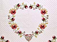 King Heart of Rose Quilt