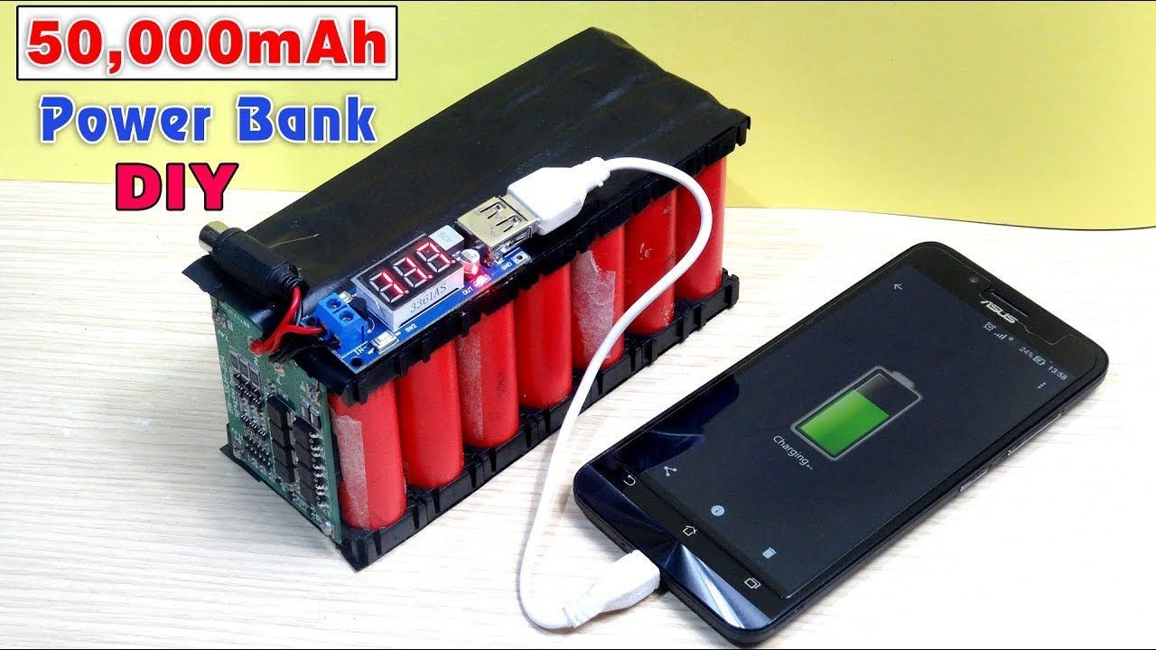 How To Make A 50 000 Mah Power Bank From Scrap Laptop Battery In 2020 Powerbank Laptop Battery Electronics Projects Diy