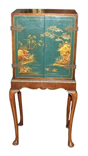 English queen anne jewelry cabinet on muebles orientales for Muebles orientales antiguos