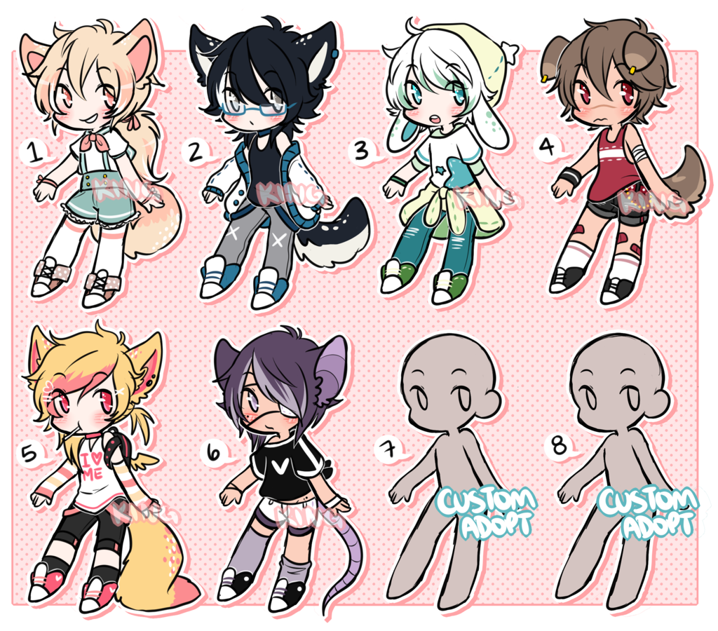 [batch 1] Sketch Adopts + Customs (CLOSED) by kkinq