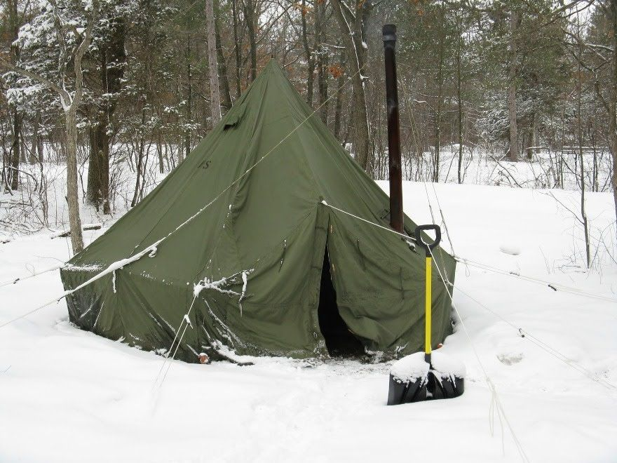 U.S. Army Surplus 5 Man Arctic Tent and Yukon M1950 Stove & U.S. Army Surplus 5 Man Arctic Tent and Yukon M1950 Stove ...