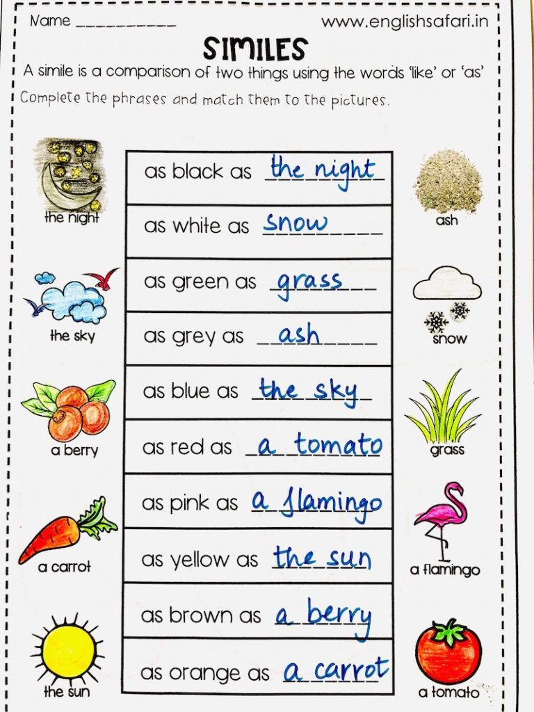 Similes Examples And Worksheets Free Www Worksheetsenglish Com Similes And Metaphors Simile Simile Worksheet [ 1024 x 768 Pixel ]